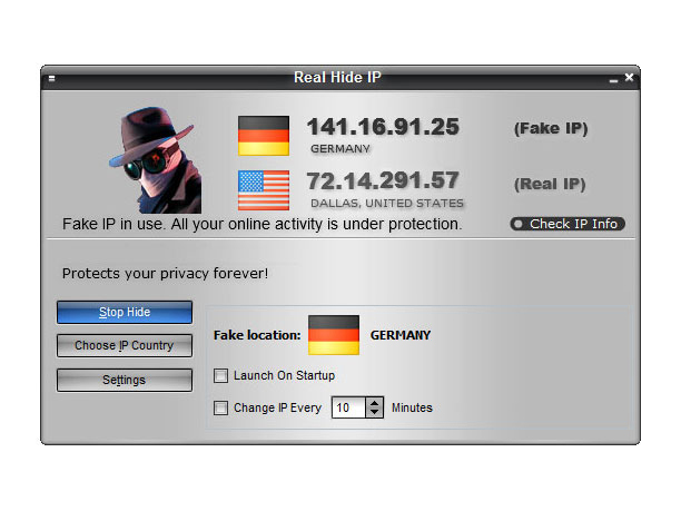 Click to view Real Hide IP 4.4.1.8 screenshot