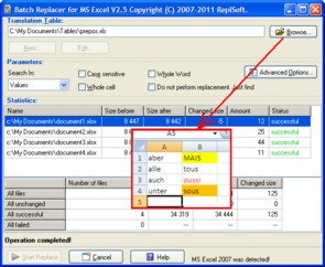 Click to view Batch Replacer for MS Excel 2.5 screenshot