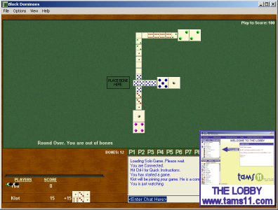 Click to view Tams11 Block Dominoes 1.0.3.3 screenshot