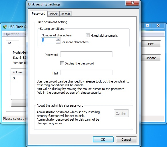 Click to view USB Flash Security++g 4.1.10 screenshot