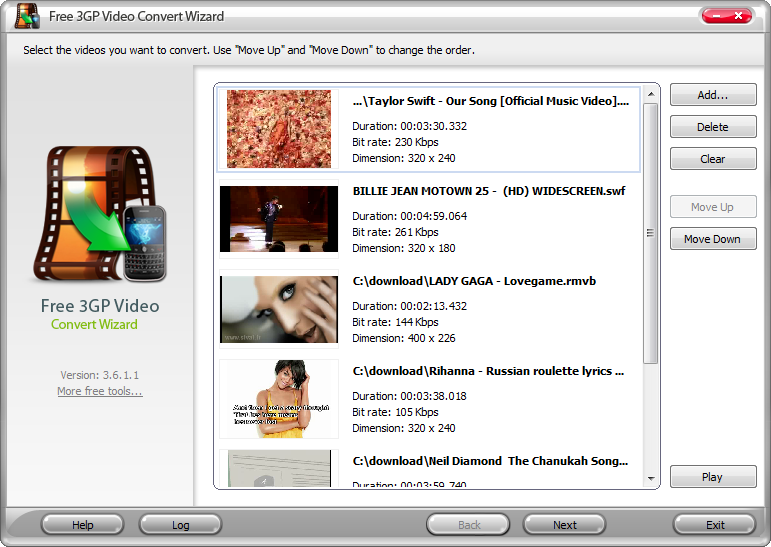 Click to view Free 3GP Video Convert Wizard 4.5.8 screenshot
