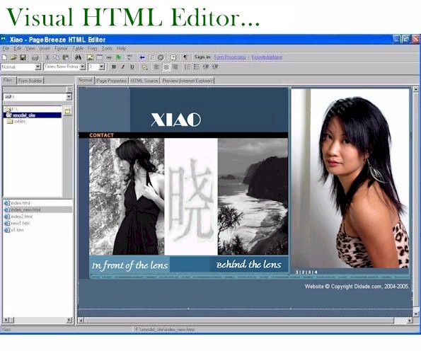 Click to view PageBreeze Free HTML Editor 5.0a.1 screenshot