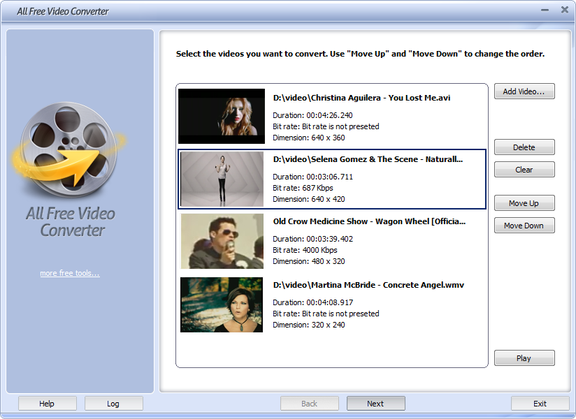 Click to view All Free Video Converter 5.2.5 screenshot
