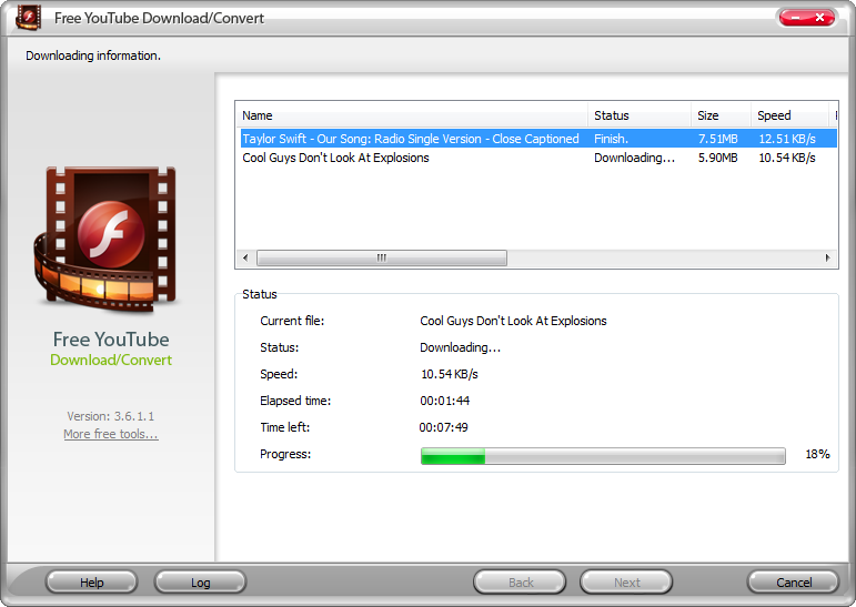 Click to view Free YouTube Download Convert 4.5.8 screenshot