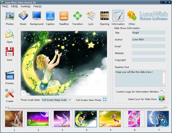 Click to view Luna Wish Slide Show 5.01 screenshot