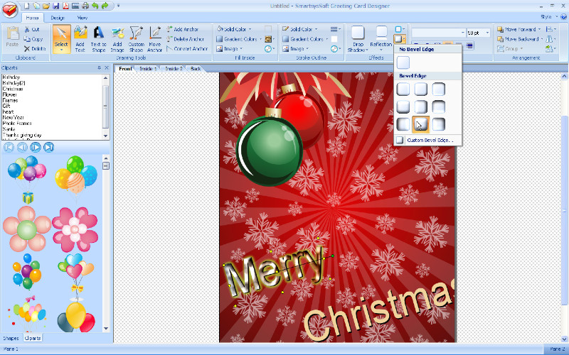 Click to view SmartsysSoft Greeting Card Designer 3.00 screenshot