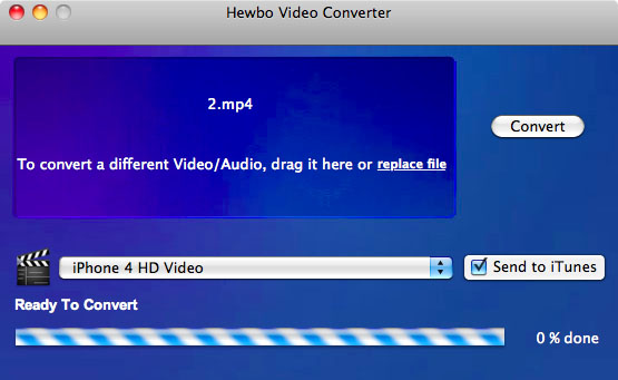 Click to view Hewbo Video Converter 2.00 screenshot