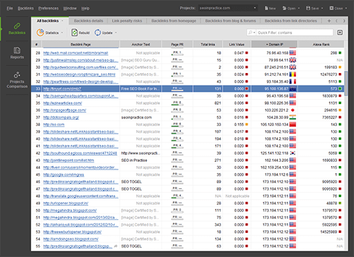 Click to view SEO PowerSuite 36 screenshot