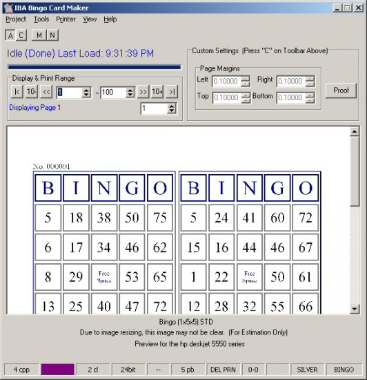 Click to view IBA Bingo Card Maker 1.27.3 screenshot
