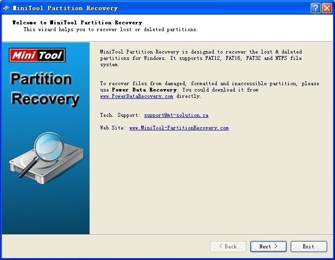 Click to view MiniTool Partition Recovery 5.0 screenshot