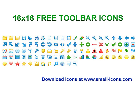 Click to view 16x16 Free Toolbar Icons 2013.1 screenshot