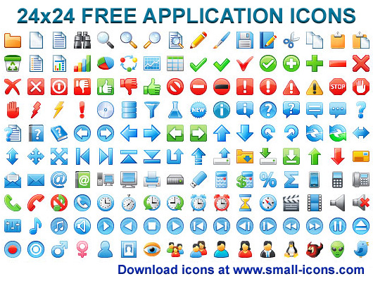 Click to view 24x24 Free Application Icons 2013.1 screenshot