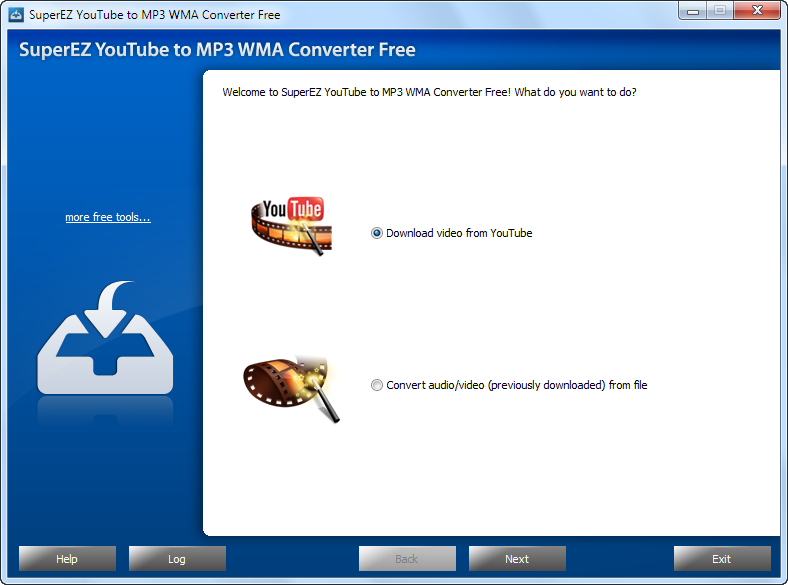 Click to view SuperEZ YouTube to MP3 WMA Converter 7.3.7 screenshot