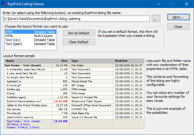 Click to view ExpPrint 6.2.0.0 screenshot